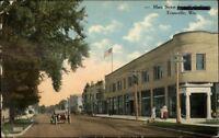 Evansville WI Main St. c1910 Postcard