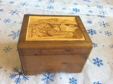 "Carved Wood Working Music Box Plays Swiss "" Sirenenzauber Walzer"""
