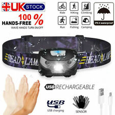 USB Rechargeable LED Headlamp/Headlight/Head torch Waterproof Running Camp/DIY