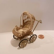 MINIATURE BABY CARRIAGE SIGNED SALLY DOHRMAN   LOVELY PIECE!!