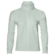 Asics Womens lightweight windproof and waterproof running jacket Pale Green