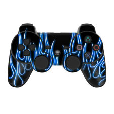 Sony PS3 Controller Skin - Blue Neon Flames - DecalGirl Decal