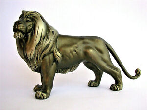 Lion King Figurine Original Sculpture Covered Bronze Patina Free Shipping