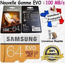 Carte Mémoire Micro SDXC Samsung EVO 128 Go Gb Gigas UHS-3 Haut Débit 100 Mo/s