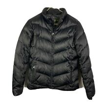 Eddie Bauer Premium Quilted Goose Down Winter Jacket Mens Medium Black Puffer