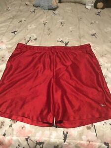 mens shorts size36/38 color red brand athletic works in good shape