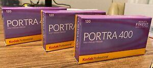 3 boxes of NEW Kodak Portra 400 film, 120 size, 5 rolls per box, still in date.