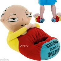 Mens Family Guy Stewie 3D Novelty Head Shaped Novelty Slippers Shoe Sizes 7-12