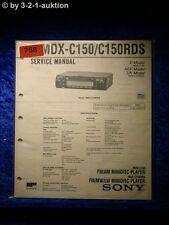 Sony Service Manual MDX c150/c150rds (#0758)