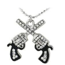 Double Revolver Gun Pistol Cowgirl Charm Anklet Fashion Jewelry