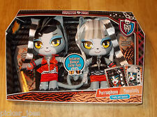 NEW Mattel MONSTER HIGH Werecat Sister Pack PURRSEPHONE & MEOWLODY Soft Dolls