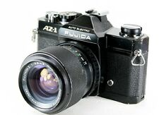 FUJICA Black AZ-1 35mm SLR Film Camera & 43-75mm Zoom Lens
