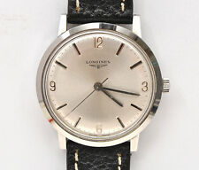 Longines vintage 1970 steel man's 35mm screw back watch excellent+++ keeps time