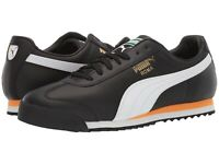Men's Shoes PUMA ROMA CLASSIC VTG Leather Lace Up Sneakers 36956902 PUMA BLACK
