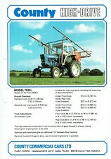 County Tractor 762H High Drive A4 colour sales leaflet  sprayer shown (1 sided)
