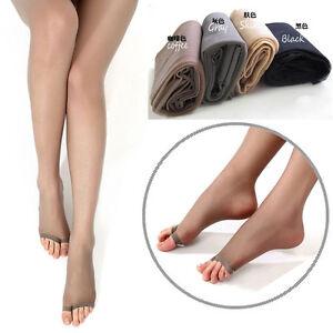 Sexy Women Sheer Hosiery Pantyhose Toeless Stockings For Peep-toe Tights Socks