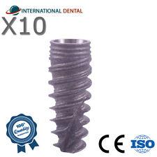 10 Conical Spiral Implant Rp For Nobel Biocare Active Hex Dental Implants