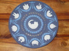 WEDGWOOD JASPERWARE TRICOLOUR TENTH ANNIVERSARY CHRISTMAS PLATE 1969-1978