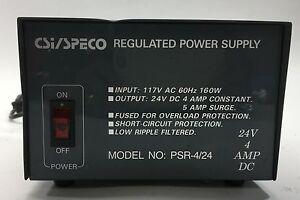 CSi/Speco PSR-4/24 24V 4A DC Regulated Power Supply