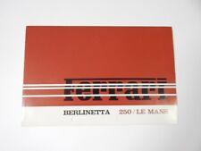 Original Ferrari 250 LM Le Mans Sales Brochure Pamphlet Manual 275 330 365 Dino