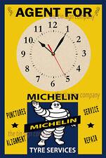 Orologio da parete PNEUMATICI MICHELIN. IDEALE per garage, officina, mancave ecc.