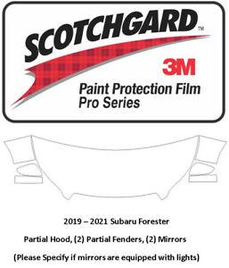 3M Scotchgard Pro Paint Protection 2019-2021 Subaru Forester Hood Fender Mirrors