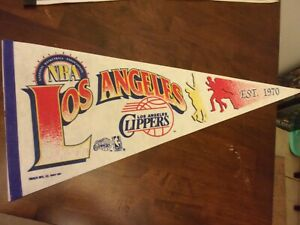 Los Angeles Clippers pre owned NBA Pennant WinCraft decorations 1992