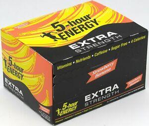 5 Hour Energy Strawberry Banana Extra Strength 1.93 oz Shots 12 Count Box