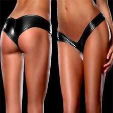 Women Sexy Metallic Lingerie Underwear Panties Knickers G-String Micro Thong