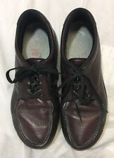 SAS BOUT TIME Mens Leather Walking Oxford Comfort Shoes Cordovan SZ 11 N