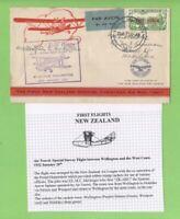 New Zealand 1932 (Jan 20) First Flight, Purple Cachet Cover, Wellington-Hokitika