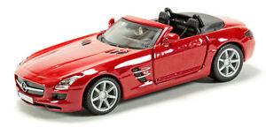 Mercedes Benz SLS AMG rot, Bburago Street Fire Auto Modell 1:43
