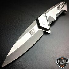 """8.25"""" BALLISTIC SILVER MILITARY TACTICAL SPRING ASSISTED OPEN POCKET KNIFE MTECH"""