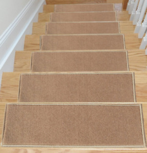 Carpet Stair Treads Non Slip Set of 7 Step Safety Pads For Hardwood Stairs NEW