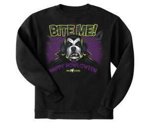 Happy Howloween Halloween Big Dogs Black Sweatshirt 2X Glow in Dark Bite Me New