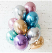 "10pc/lot 10"" Chrome Balloons Bouquet Birthday Party Decor  Wedding Shiny"