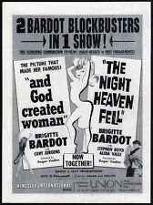 BRIGITTE BARDOT Blockbusters__Orig. 1960 Trade AD / promo__And God Created Woman