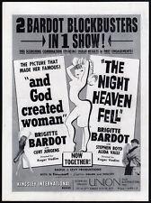BRIGITTE BARDOT Blockbusters__Orig. 1960 Trade AD / promo__And God Created Woman