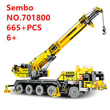 665pcs Sembo Mechanical Crane Blocks DIY Kids Building Toys Boys Puzzle Gift