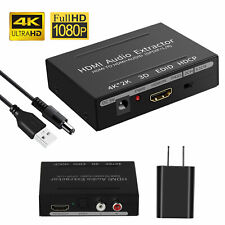 4K 1080P Hdmi Spdif Audio Video Splitter Converter Adapter Extractor Stereo Out