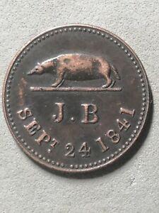 Coin 1 kepping 1841 Sarawak ruler James Brooke