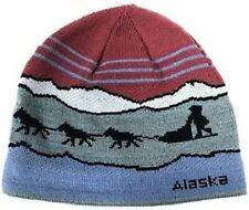 Alaska Beanie Hat Skull Sled Dog Team Knit Stocking Beanie Hat