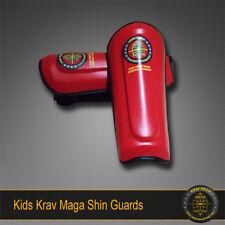 KIDS KRAV MAGA SHIN GUARDS, CHILDREN SPARRING KICK DEFENCE LEG PROTECTION