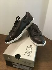 Soft Style Fairfax Shoes Wmns Size 8M Drk Brown New Box Hush Puppies Laces Zip