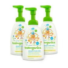 Babyganics Baby Shampoo and Body Wash, Fragrance Free, 16 oz 3 pack