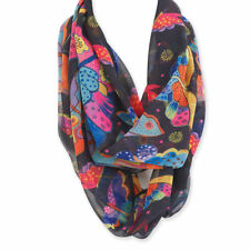 LAUREL BURCH Infinity Scarf ~ Butterflies ~ Artistic Scarf ~ New