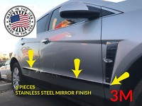 fits Cadillac SRX 10-16 6Pc Chrome Lower Body Side Molding Trim Stainless Steel