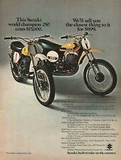 1972 Suzuki RH-71 & Suzuki TM-250 - Vintage Motorcycle Ad