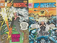 MS. MYSTIC#1 & 2 VF/NM LOT 1982 NEAL ADAMS PACIFIC BRONZE AGE COMICS
