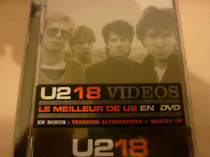 U2 - 18 VIDEOS  DVD MUSICALE Neuf toujours emballé